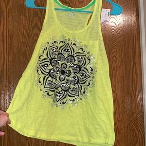 Justice Yellow Tank Top!!
